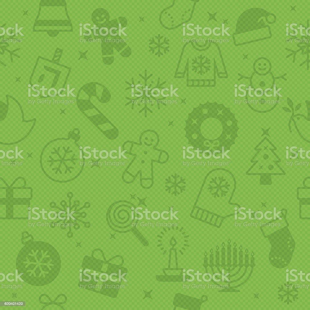 Seamless Green Christmas Season Background vector art illustration