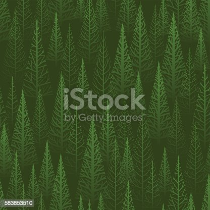 istock Seamless green forest 583853510