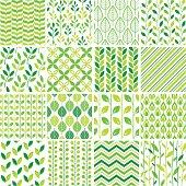 Set of 16 seamless patterns.