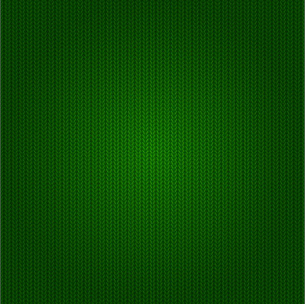 seamless green knitted pattern - flannel backgrounds stock illustrations, clip art, cartoons, & icons