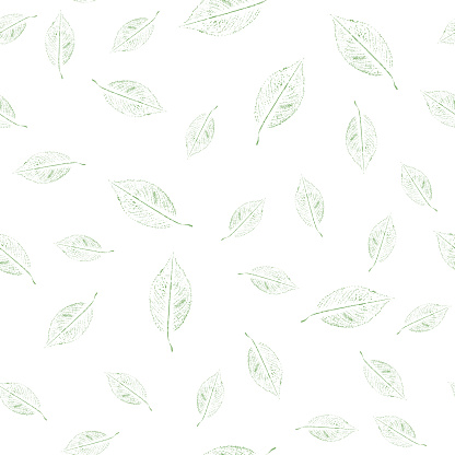 Seamless green leaves pattern for print fabric