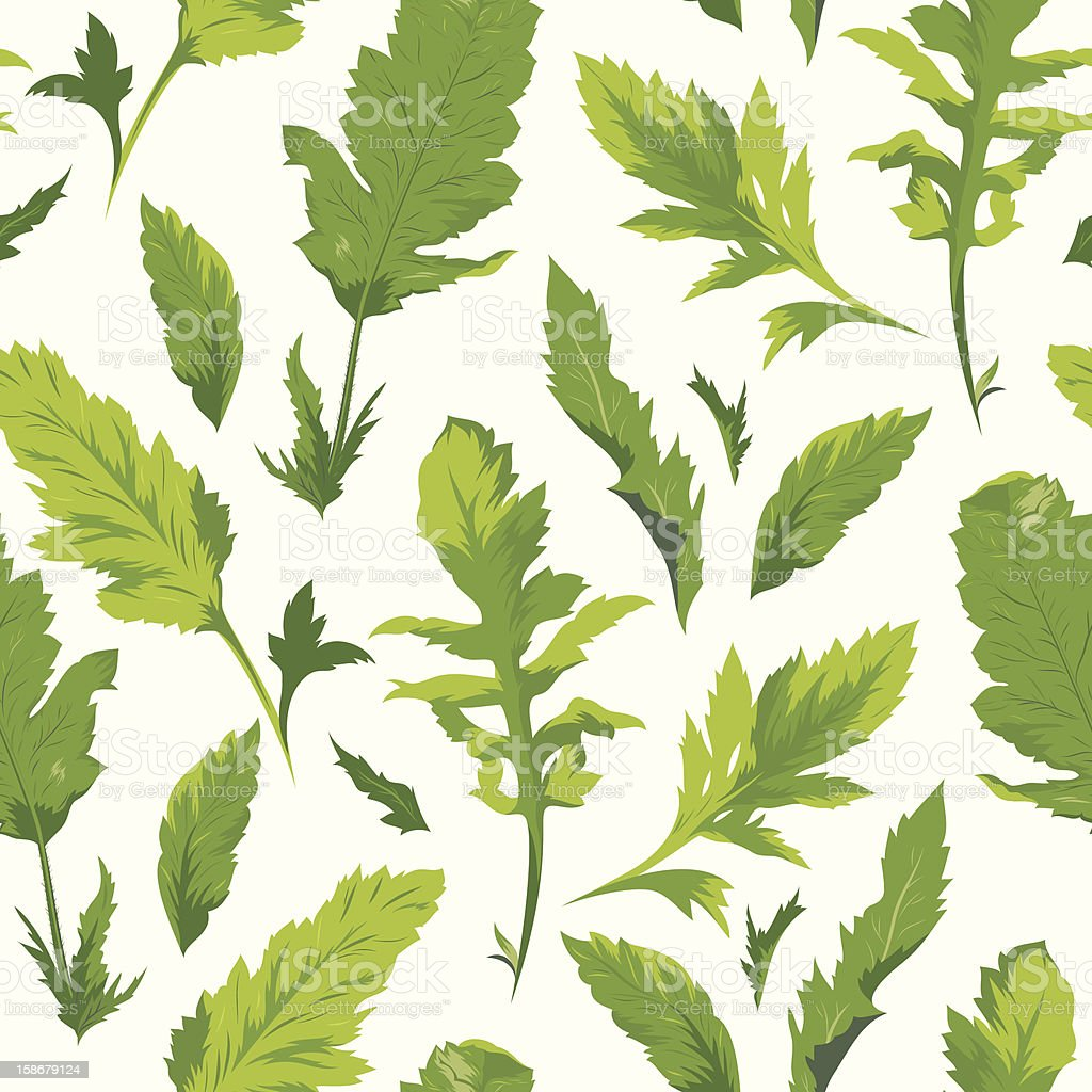 Seamless green leaves pattern royalty-free seamless green leaves pattern stock vector art & more images of backgrounds