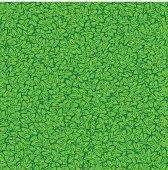 Seamless green leaves. Vector illustration