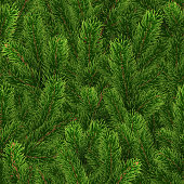 istock Seamless green pattern. Christmas tree branches 1282107580