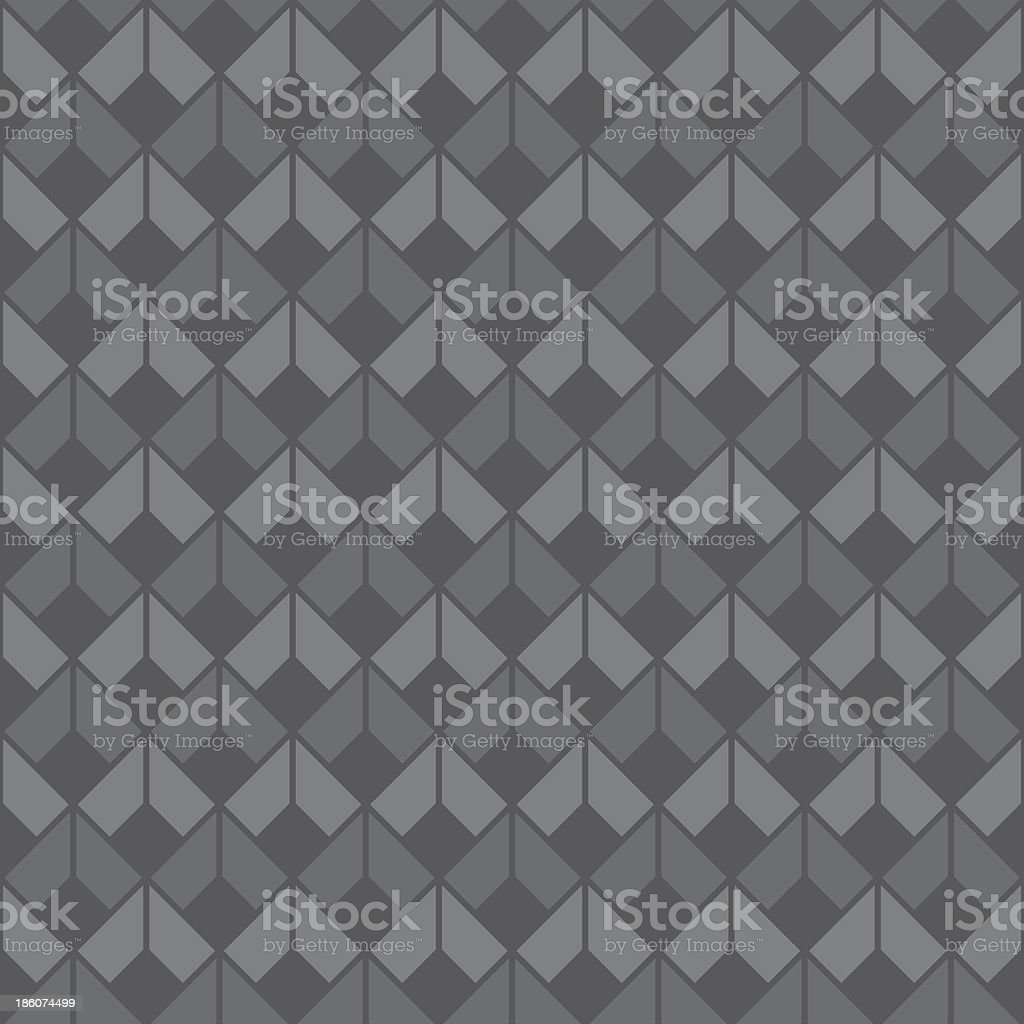 Seamless grey diamond background royalty-free stock vector art