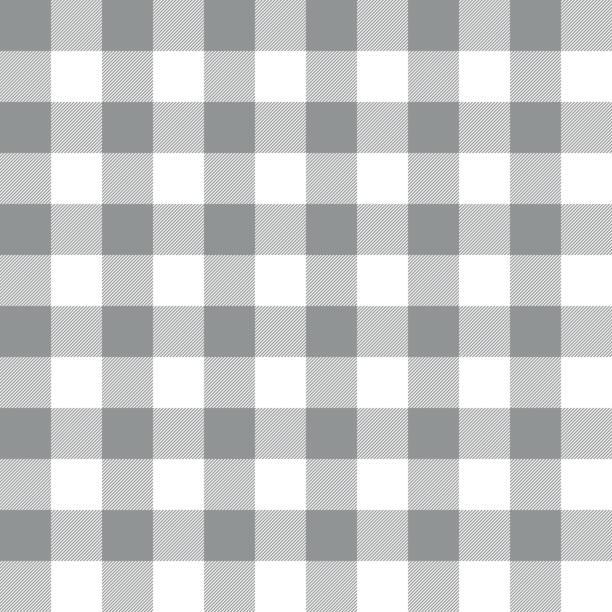 ilustraciones, imágenes clip art, dibujos animados e iconos de stock de fondo de fondo guinga gris transparente - fondos de franela