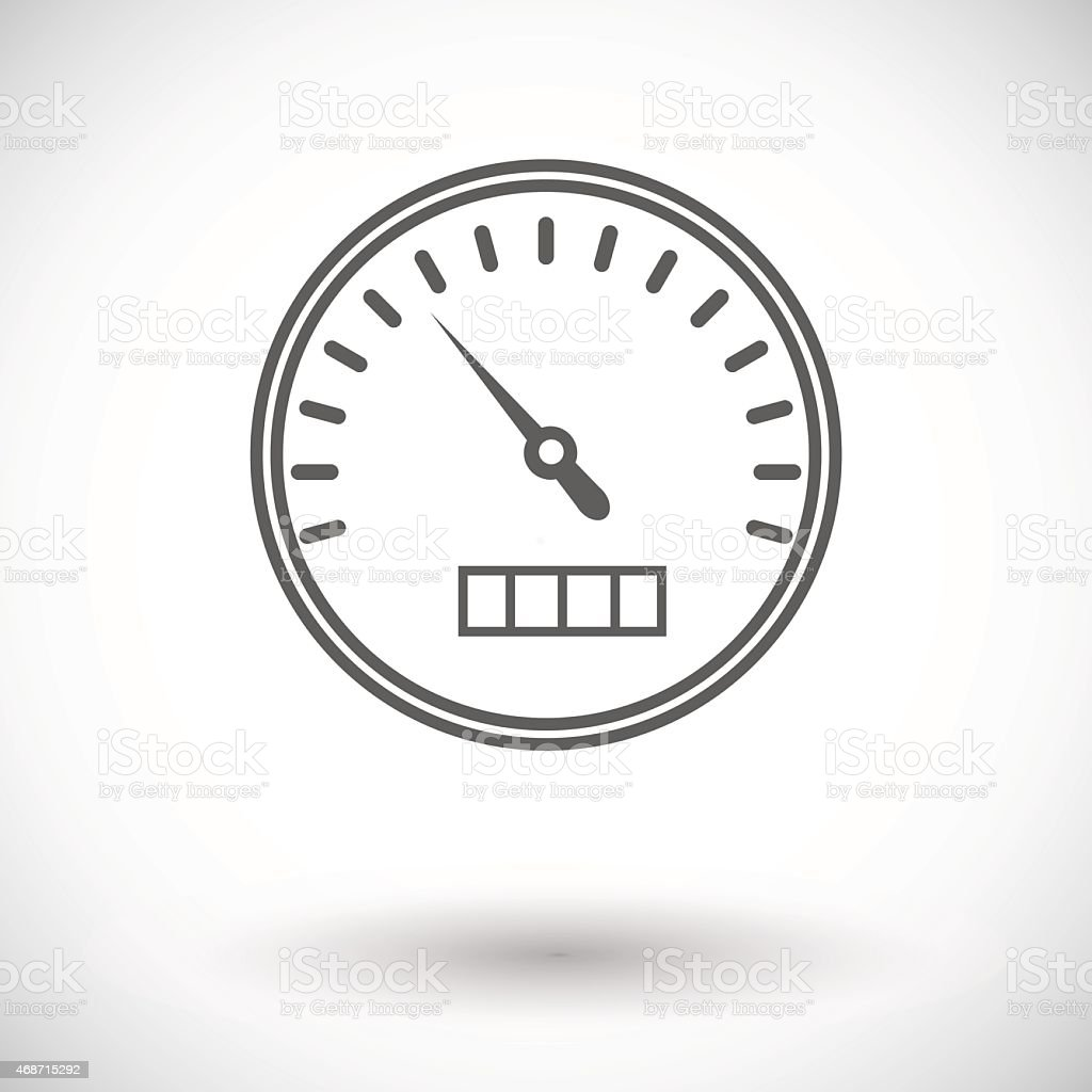 Seamless grey illustration of speedometer icon on vector art illustration