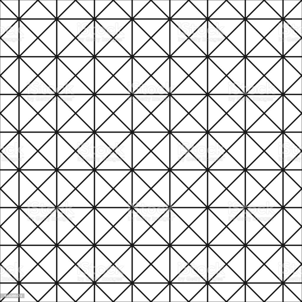 Seamless Grid Texture   Simple Linear Pattern. Vector Geometric Background  Royalty Free Seamless Grid
