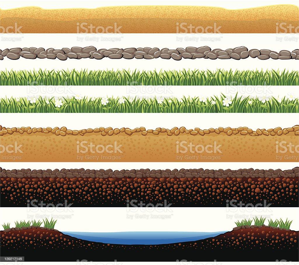 Seamless Ground vector art illustration