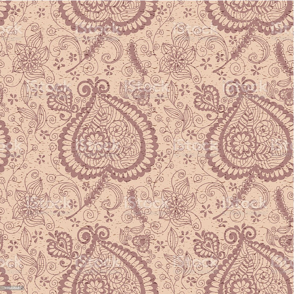 Seamless grunge floral pattern royalty-free stock vector art