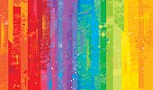 Seamless grunge rainbow background