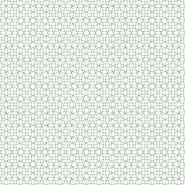 seamless guilloche background pattern green, vector protective mesh for valuable documents, seamless guilloche patterned mesh - checked pattern stock illustrations