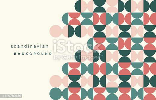 Circle Pattern, Scandinavian, Abstract, Copy Space