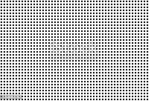 Black square dots on white background