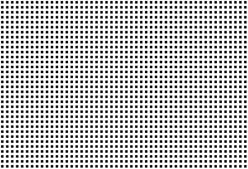 Black square dots on white background