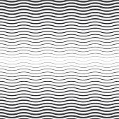 Seamless halftone background. Black and white wavy pattern.