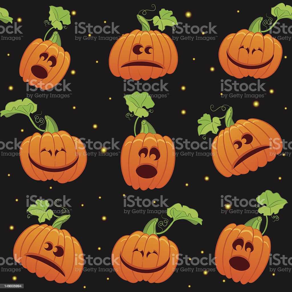 seamless Halloween background royalty-free stock vector art