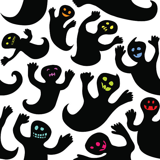seamless Halloween background vector art illustration