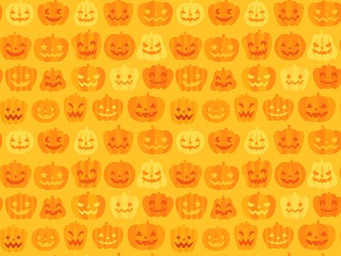 Seamless halloween pattern background (Jack O' Lantern)