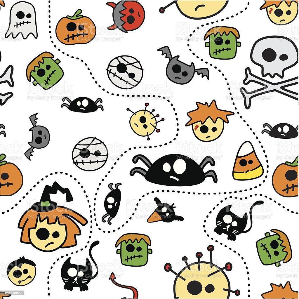 Seamless Halloween Pattern royalty-free seamless halloween pattern stock vector art & more images of animal body part