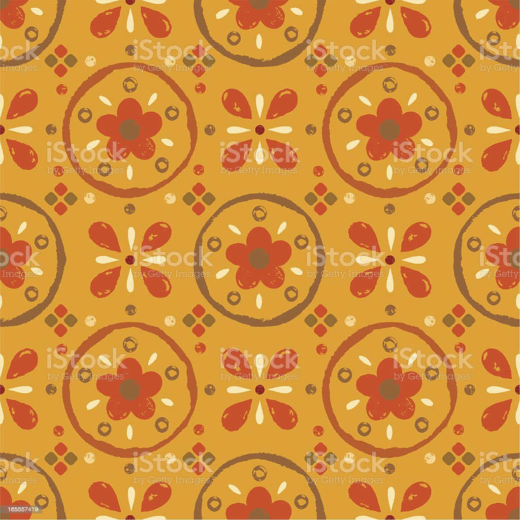 Seamless Hand Drawn Floral Pattern royalty-free seamless hand drawn floral pattern stock vector art & more images of antique