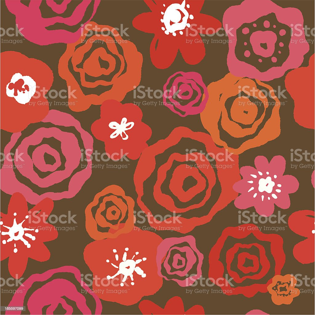 Seamless Hand Drawn Floral Pattern royalty-free seamless hand drawn floral pattern stock vector art & more images of backgrounds