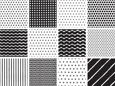 Seamless Hand drawn Minimalist Patterns