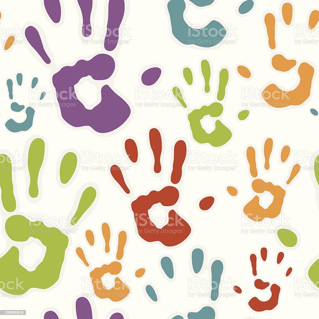 Seamless Hand prints royalty-free stock vector art