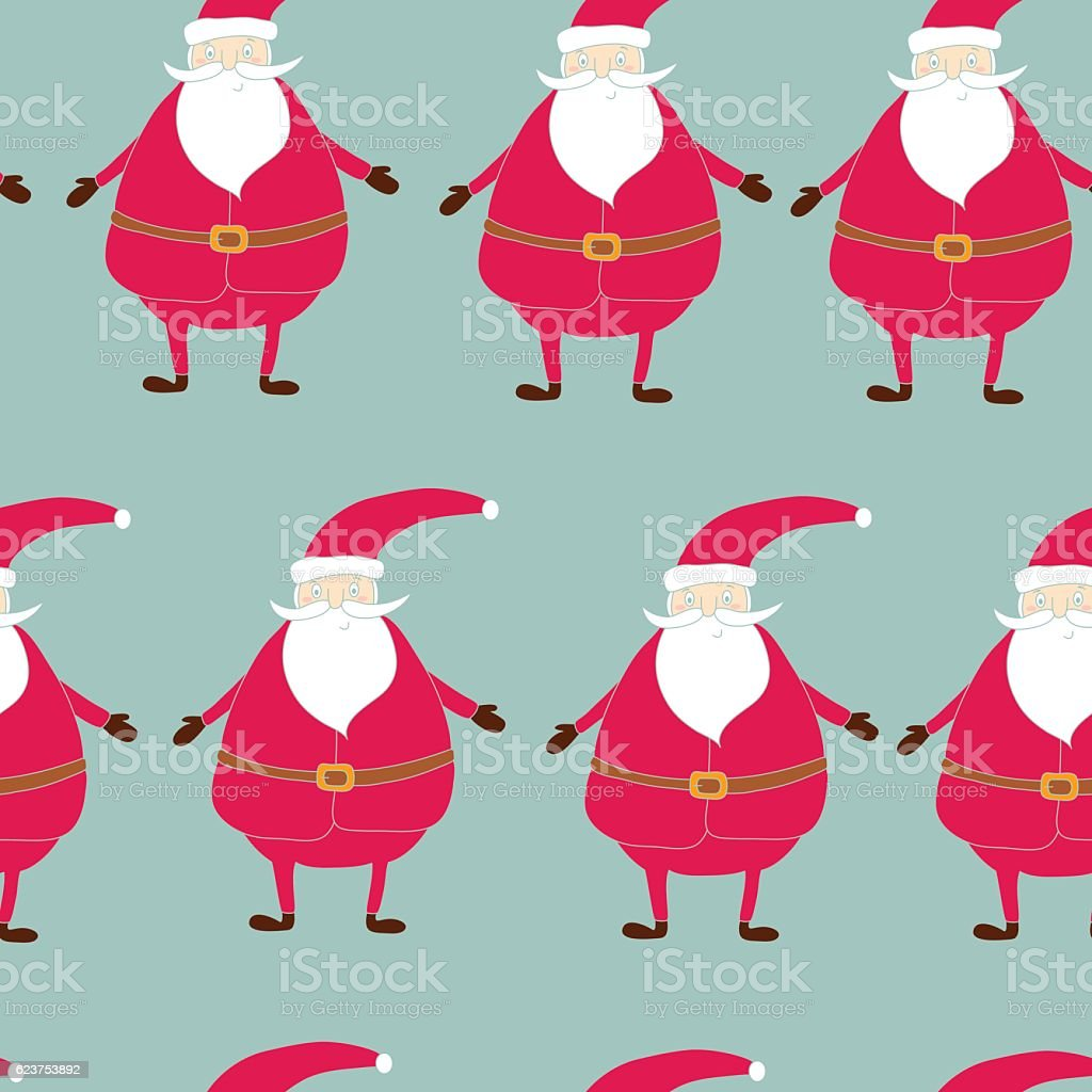 picture about Santa Claus Patterns Printable known as Seamless Handdrawn Routine Of Xmas Printable Templates