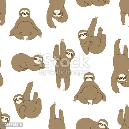 Sloths have taken over pop culture and this hand-drawn sloth pattern will make an ideal background for your design project. The pattern repeats seamlessly both vertically and horizontally meaning the sloths go on and on! The illustrator 10 vector file can be coloured and customized to suit your needs and scaled infinitely without any loss of quality.