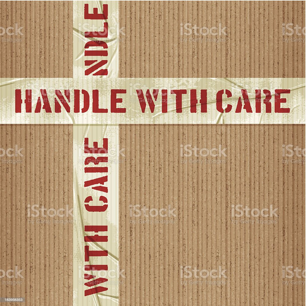 seamless handle with care tile vector art illustration