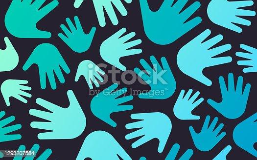 istock Seamless Hands Background 1293207584