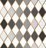 Seamless harlequin pattern. Pattern with rhombuses.