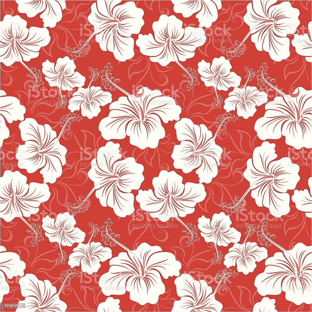 Seamless Hawaiian Floral Pattern Stock Illustration Download