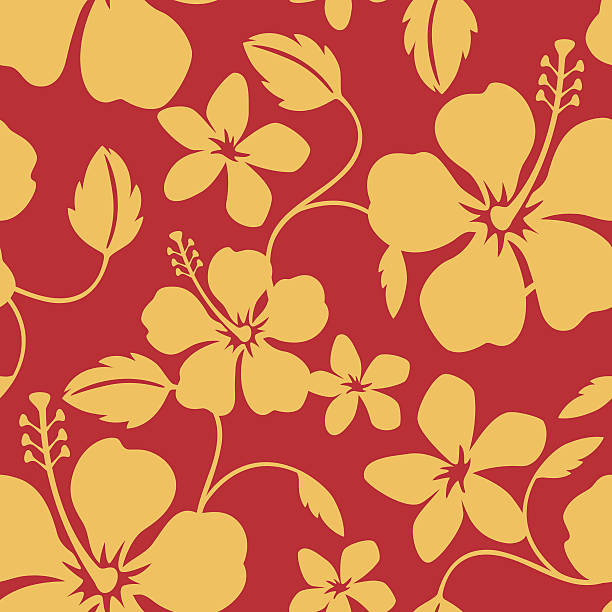 Seamless Hawaiian Hula Pattern Illustration of a seamless Hawaiian hula pattern tile. Tile can be dragged and dropped into Illustrator's swatches palette. hawaiian culture stock illustrations