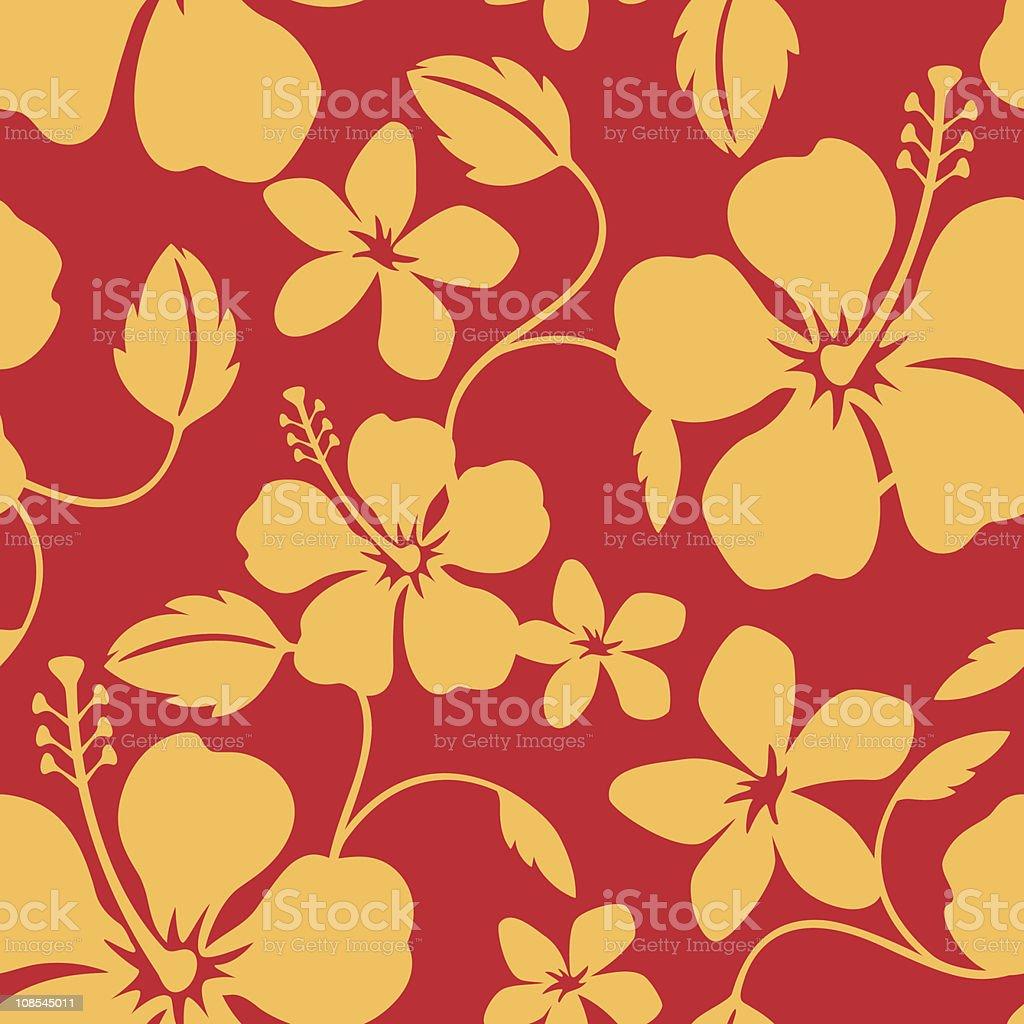 Seamless Hawaiian Hula Pattern vector art illustration