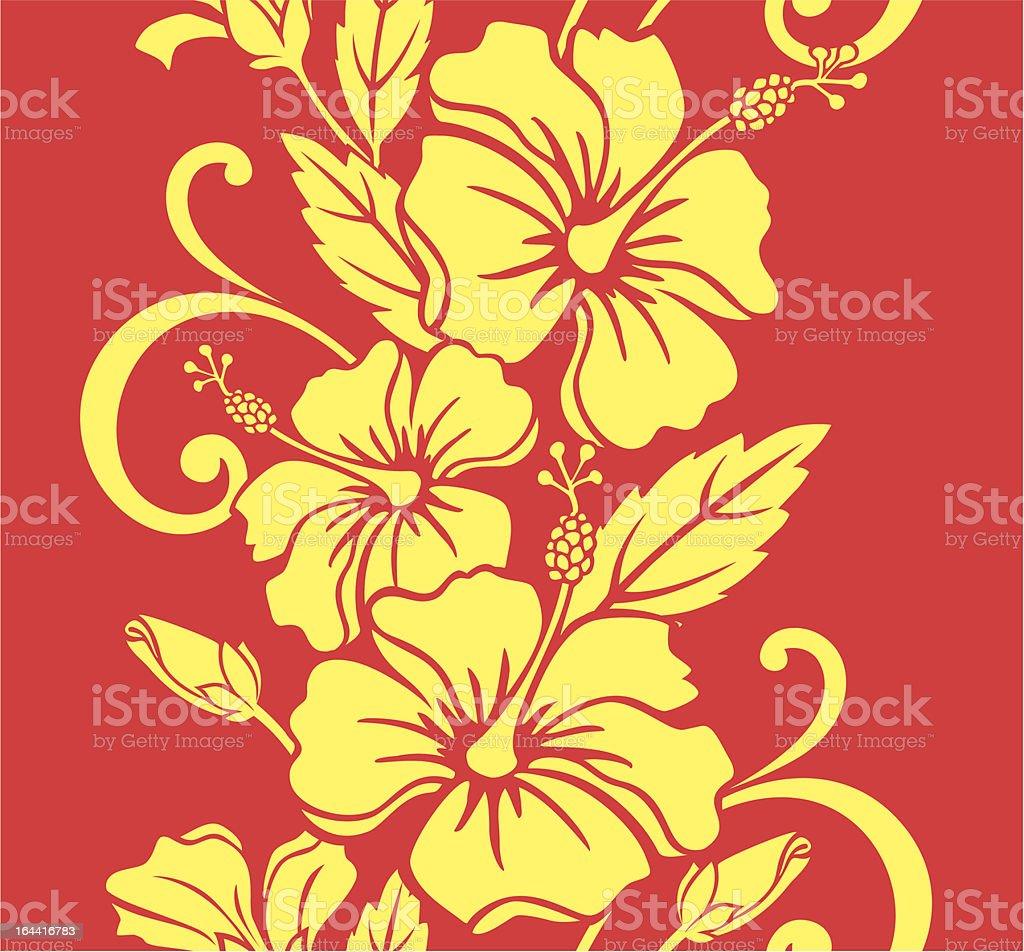 Seamless Hawaiian Royale Border/Pattern royalty-free stock vector art
