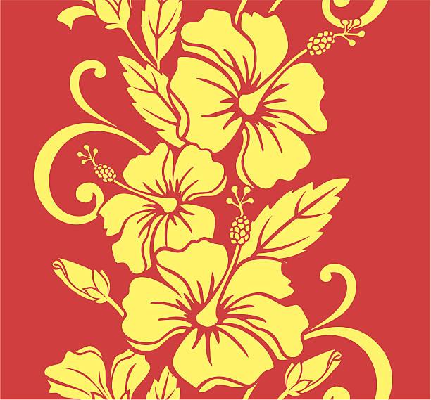 Seamless Hawaiian Royale Border/Pattern vector art illustration