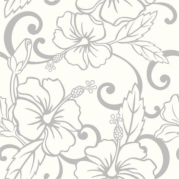 Seamless Hawaiian Wedding Pattern vector art illustration