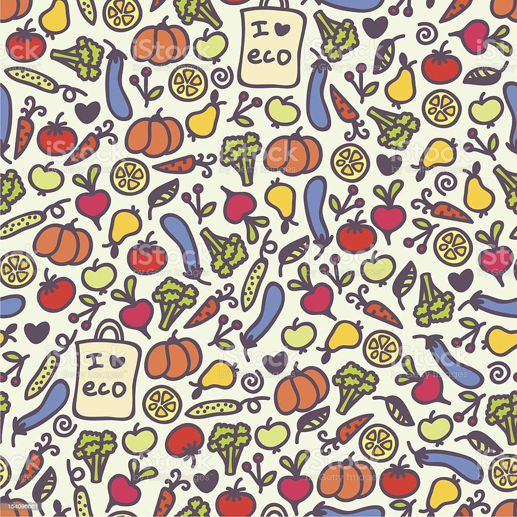 Seamless healthy food pattern. royalty-free seamless healthy food pattern stock vector art & more images of apple - fruit