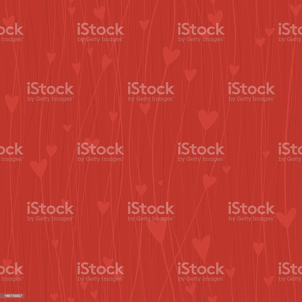 Seamless Heart background vector art illustration