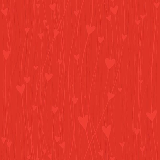 Seamless Heart background vector art illustration
