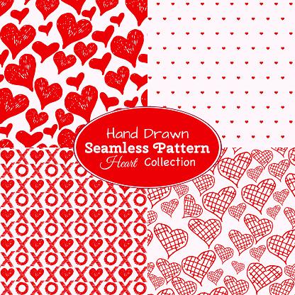 Seamless Heart Backgrounds