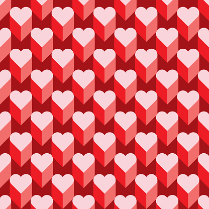 Seamless Heart Pattern. Ideal for Valentine's Day.