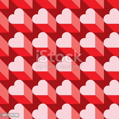 istock Seamless Heart Pattern. Ideal for Valentine's Day Wrapping Paper. 501115196