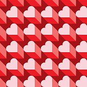 Seamless Heart Pattern in Vector Format. Ideal for Valentine's Day Wrapping Paper.