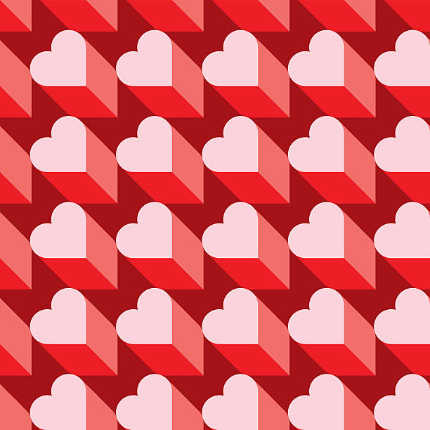 seamless heart pattern. ideal for valentine's day wrapping paper. - valentine card stock illustrations
