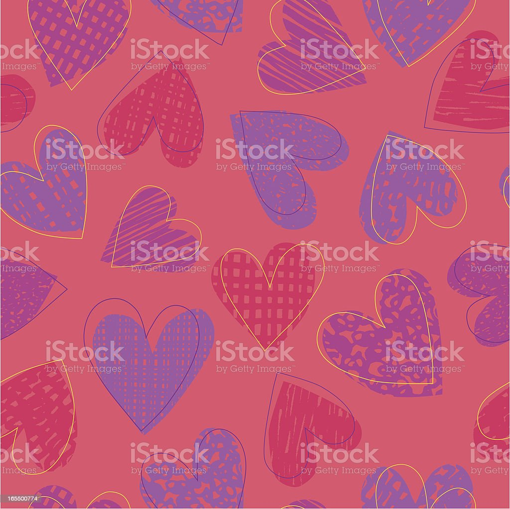 Seamless Heart Shape Pattern royalty-free stock vector art