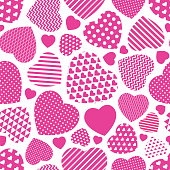 Seamless heart textured background. Stock illustration