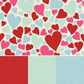 Seamless hearts background. EPS 10 file. Transparency used on highlight elements.